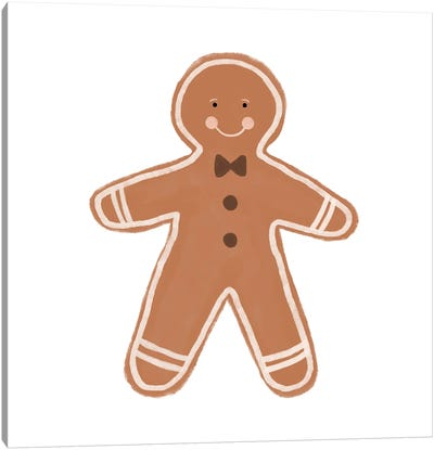 Gingerbread Man Canvas Art Print