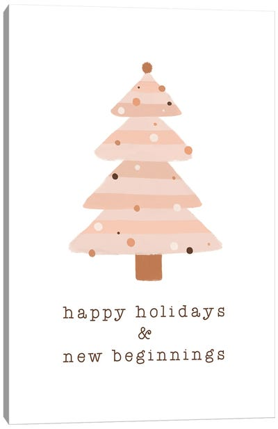 Happy Holidays & New Beginnings Canvas Art Print