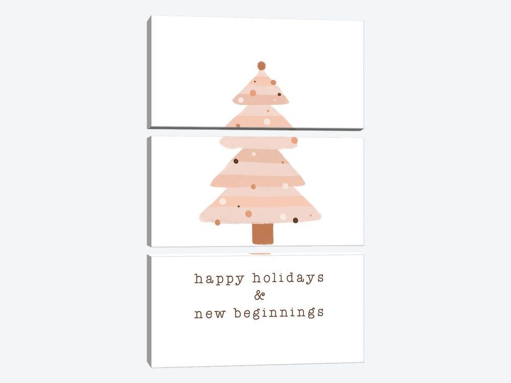 Happy Holidays & New Beginnings by Orara Studio 3-piece Canvas Artwork