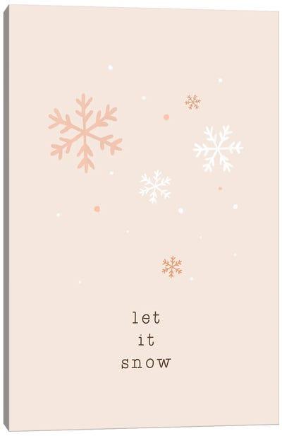Let It Snow Canvas Art Print