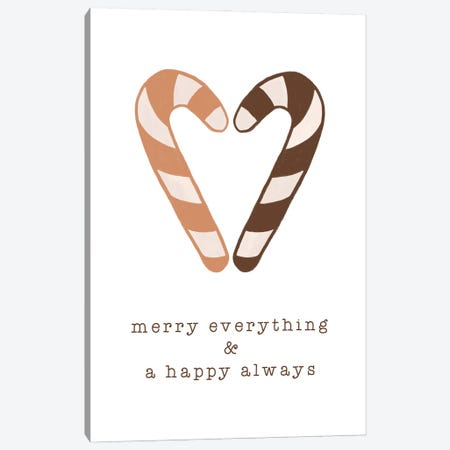 Merry Everything & A Happy Always Canvas Print #ORA367} by Orara Studio Canvas Art Print