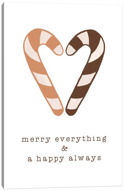 Merry Everything & A Happy Always Canvas Art Print
