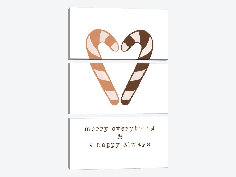 Merry Everything & A Happy Always by Orara Studio 3-piece Canvas Print
