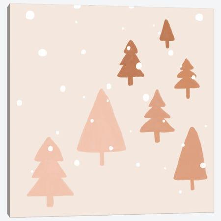 Pastel Winter Trees Canvas Print #ORA369} by Orara Studio Canvas Artwork
