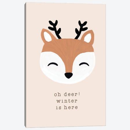 Oh Deer Winter Is Here Canvas Print #ORA372} by Orara Studio Canvas Print