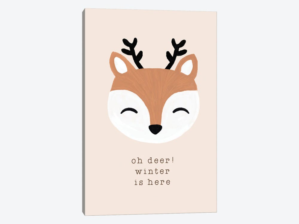 Oh Deer Winter Is Here 1-piece Canvas Print