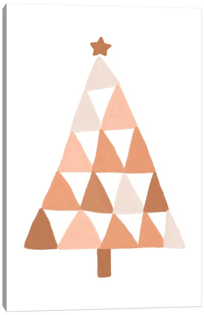 Pastel Christmas Tree Canvas Art Print