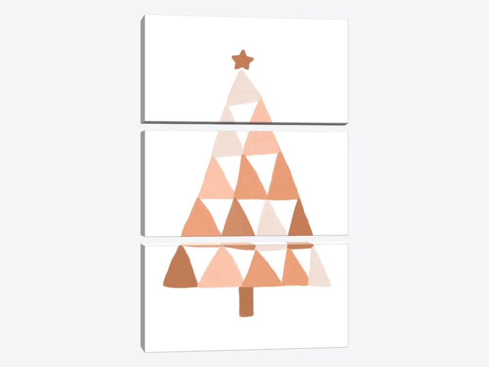 Pastel Christmas Tree by Orara Studio 3-piece Canvas Art