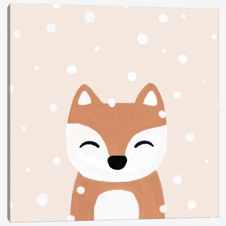 Snow & Fox Canvas Print #ORA374} by Orara Studio Canvas Artwork