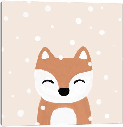 Snow & Fox Canvas Art Print