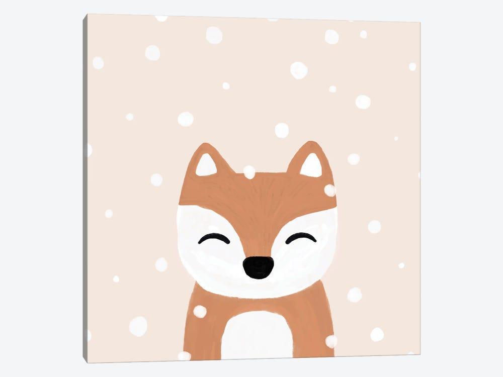 Snow & Fox by Orara Studio 1-piece Canvas Print