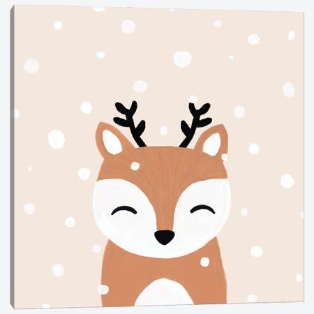 Snow & Deer Canvas Print #ORA378} by Orara Studio Canvas Art Print