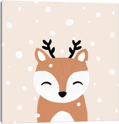 Snow & Deer Canvas Art Print