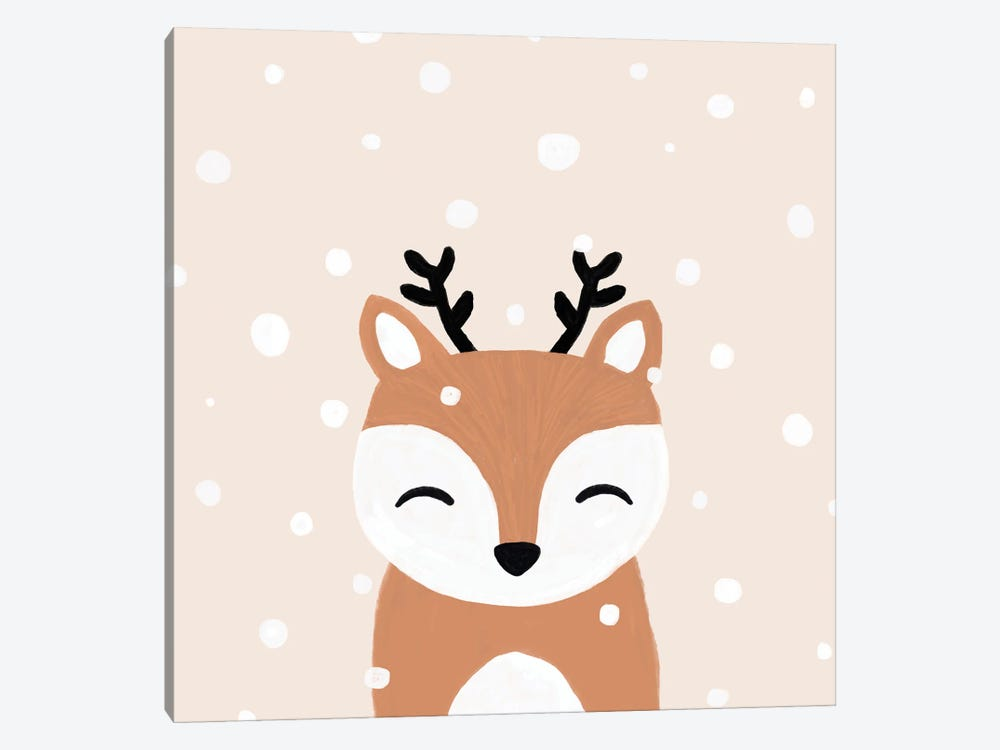 Snow & Deer by Orara Studio 1-piece Canvas Art Print
