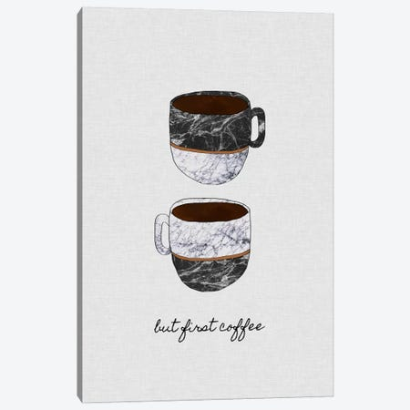 But First Coffee Canvas Print #ORA37} by Orara Studio Art Print
