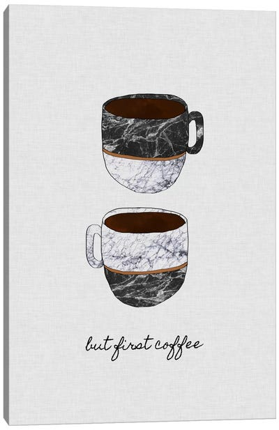 But First Coffee Canvas Art Print