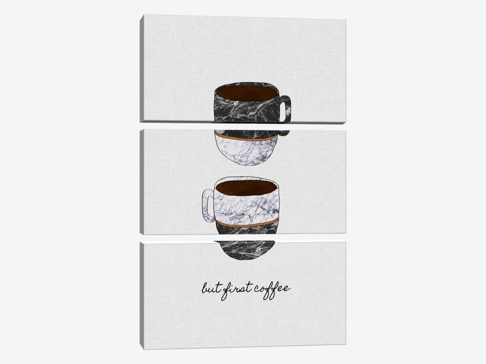 But First Coffee by Orara Studio 3-piece Canvas Print