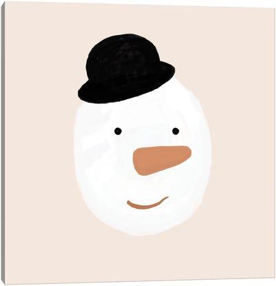 Snowman Canvas Art Print