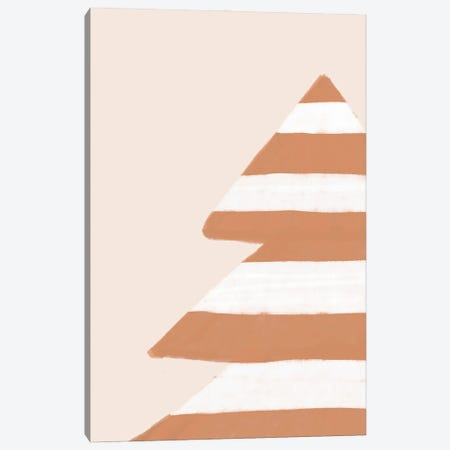 Stripey Xmas Tree Canvas Print #ORA381} by Orara Studio Canvas Wall Art