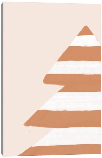 Stripey Xmas Tree Canvas Art Print