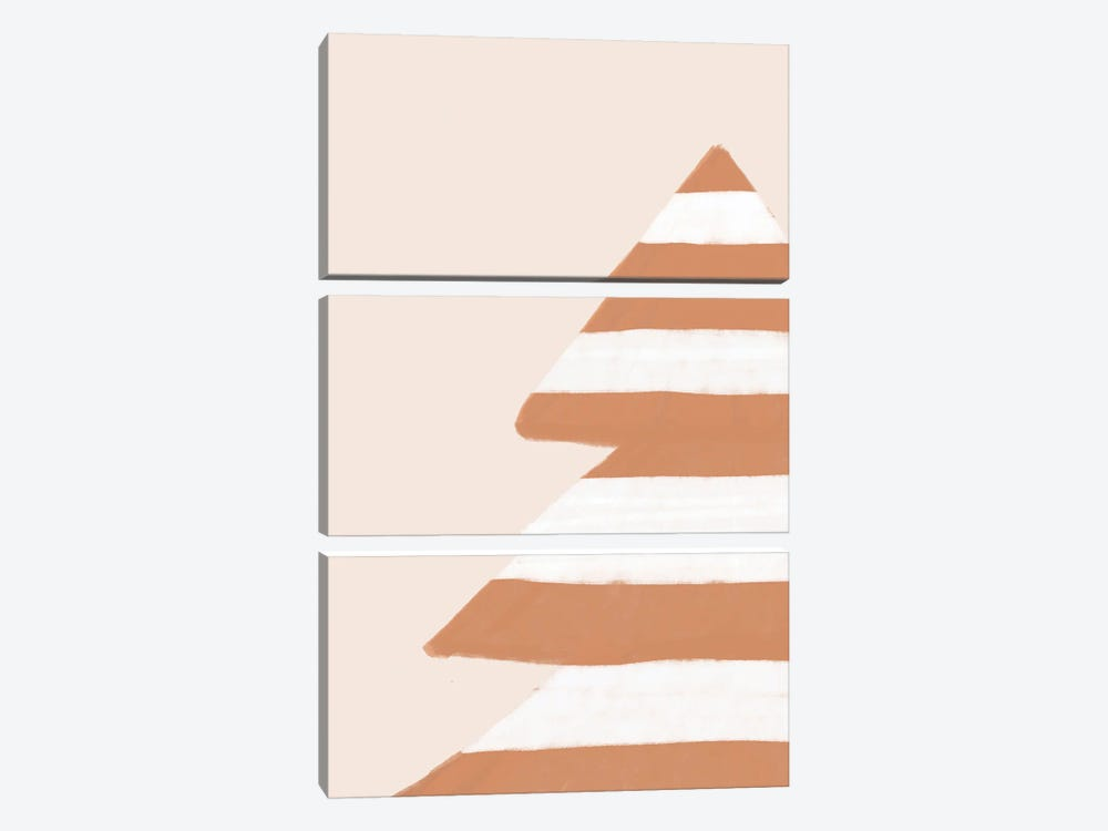 Stripey Xmas Tree by Orara Studio 3-piece Canvas Art Print