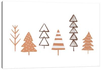 Winter Trees Illustration Canvas Art Print
