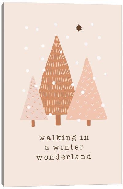 Walking In A Winter Wonderland Canvas Art Print
