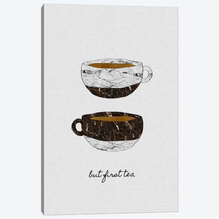 But First Tea Canvas Print #ORA38} by Orara Studio Canvas Art
