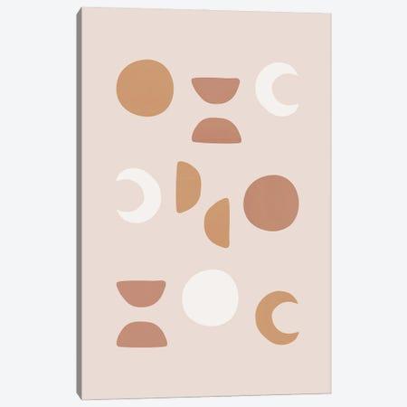 Blush Moon Phases Canvas Print #ORA399} by Orara Studio Art Print
