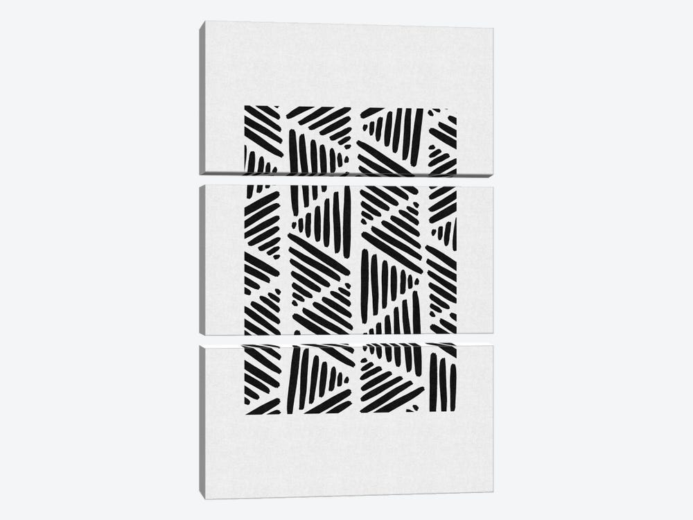 B&W Abstract I 3-piece Canvas Art