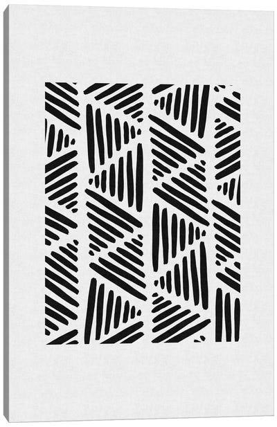 B&W Abstract I Canvas Art Print