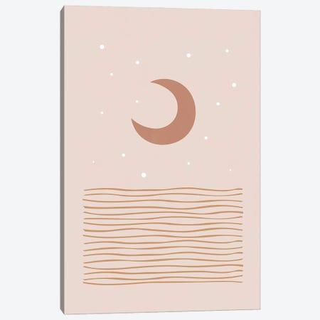 Blush Moon Canvas Print #ORA400} by Orara Studio Canvas Art Print