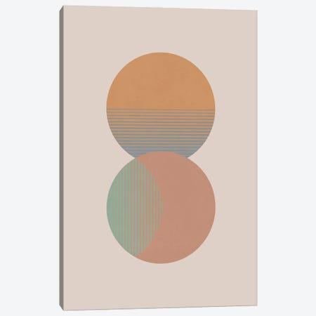 Circle Sun & Moon Colour Canvas Print #ORA403} by Orara Studio Art Print