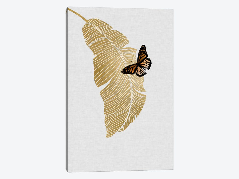 Butterfly & Palm by Orara Studio 1-piece Canvas Art Print