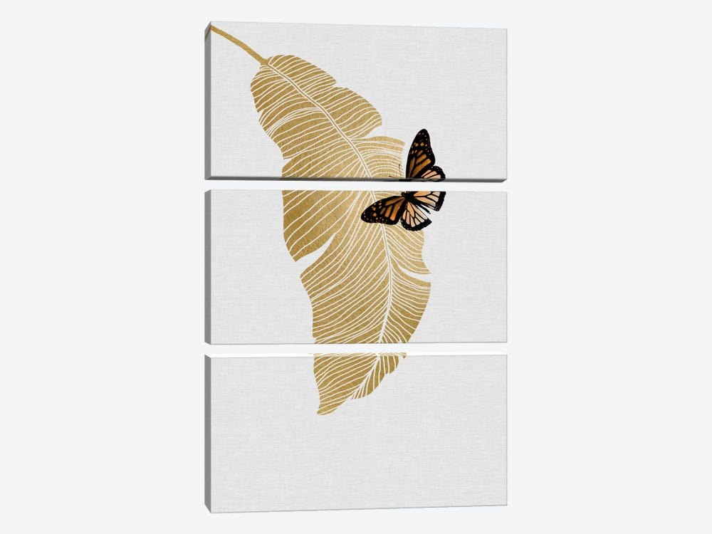 Butterfly & Palm by Orara Studio 3-piece Art Print