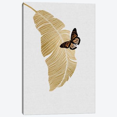 Butterfly & Palm 3-Piece Canvas #ORA40} by Orara Studio Canvas Art Print