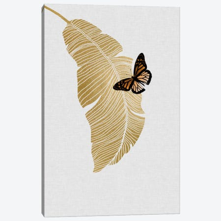 Butterfly & Palm Canvas Print #ORA40} by Orara Studio Canvas Art Print