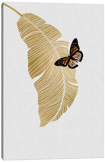 Butterfly & Palm Canvas Art Print