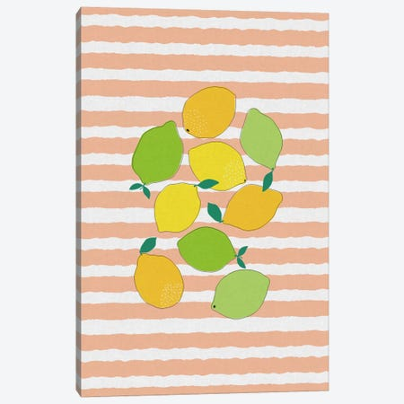 Citrus Crowd Canvas Print #ORA47} by Orara Studio Canvas Wall Art