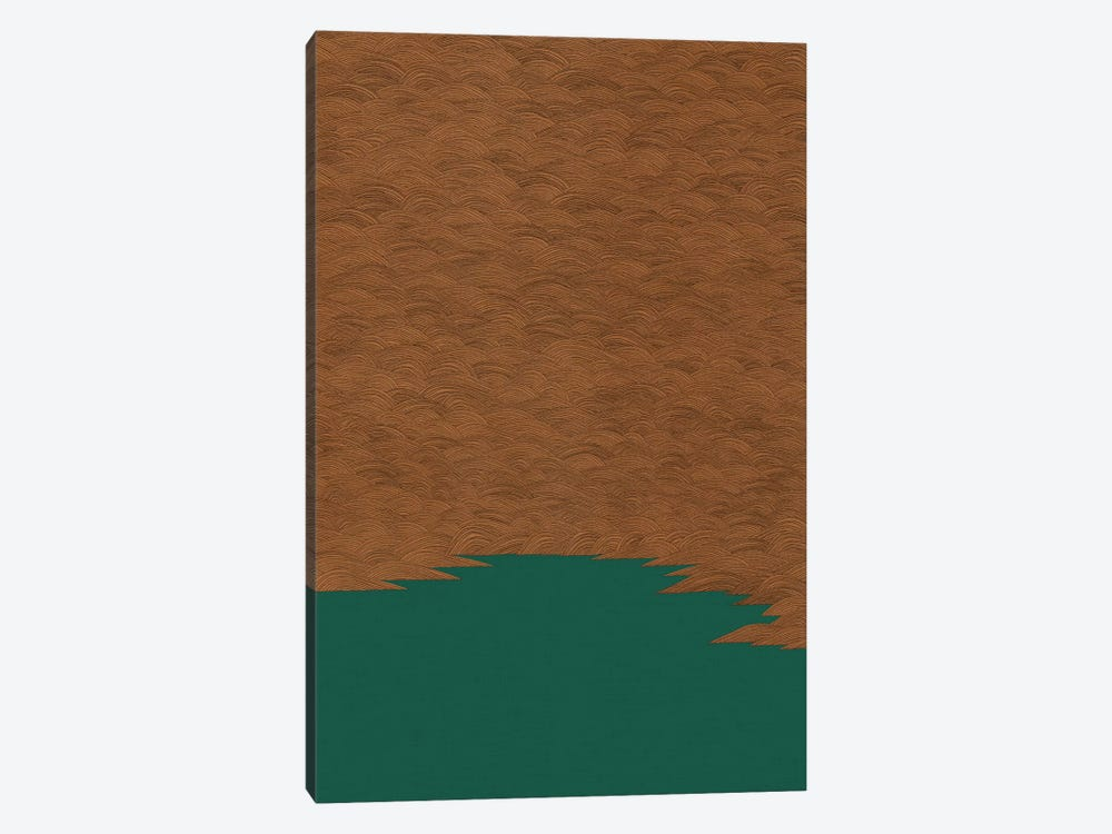 Copper & Green Abstract by Orara Studio 1-piece Canvas Artwork