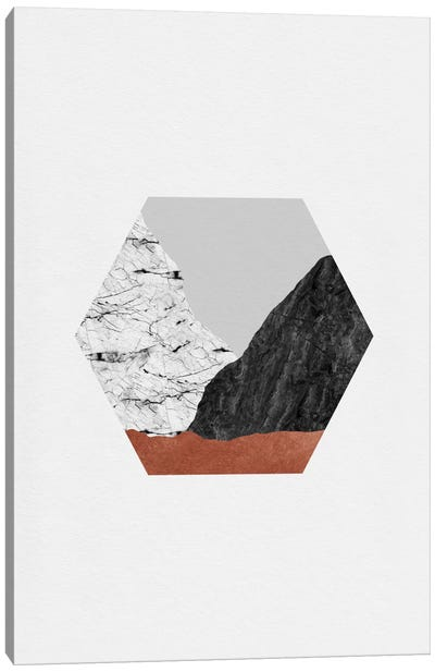 Copper Geometric I Canvas Art Print