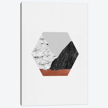Copper Geometric I Canvas Print #ORA51} by Orara Studio Canvas Wall Art