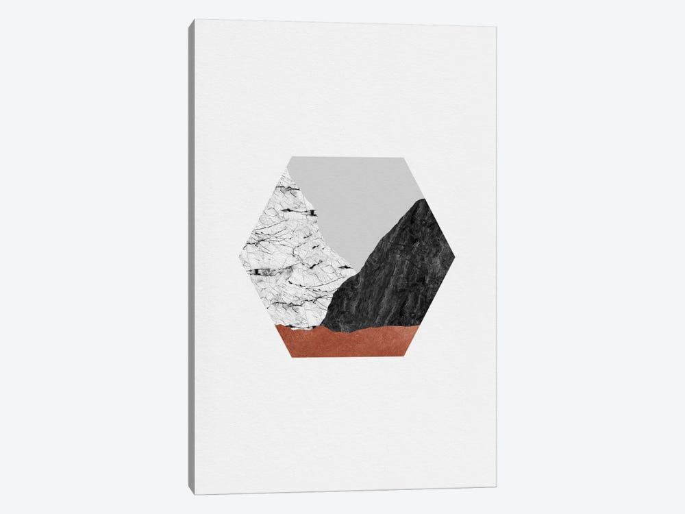 Copper Geometric I by Orara Studio 1-piece Canvas Print