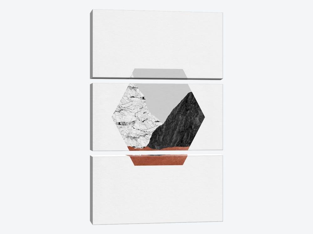 Copper Geometric I by Orara Studio 3-piece Canvas Print