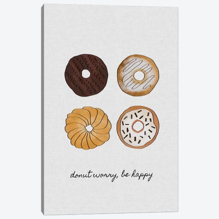 Donut Worry Canvas Print #ORA59} by Orara Studio Canvas Art