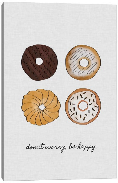 Donut Worry Canvas Art Print