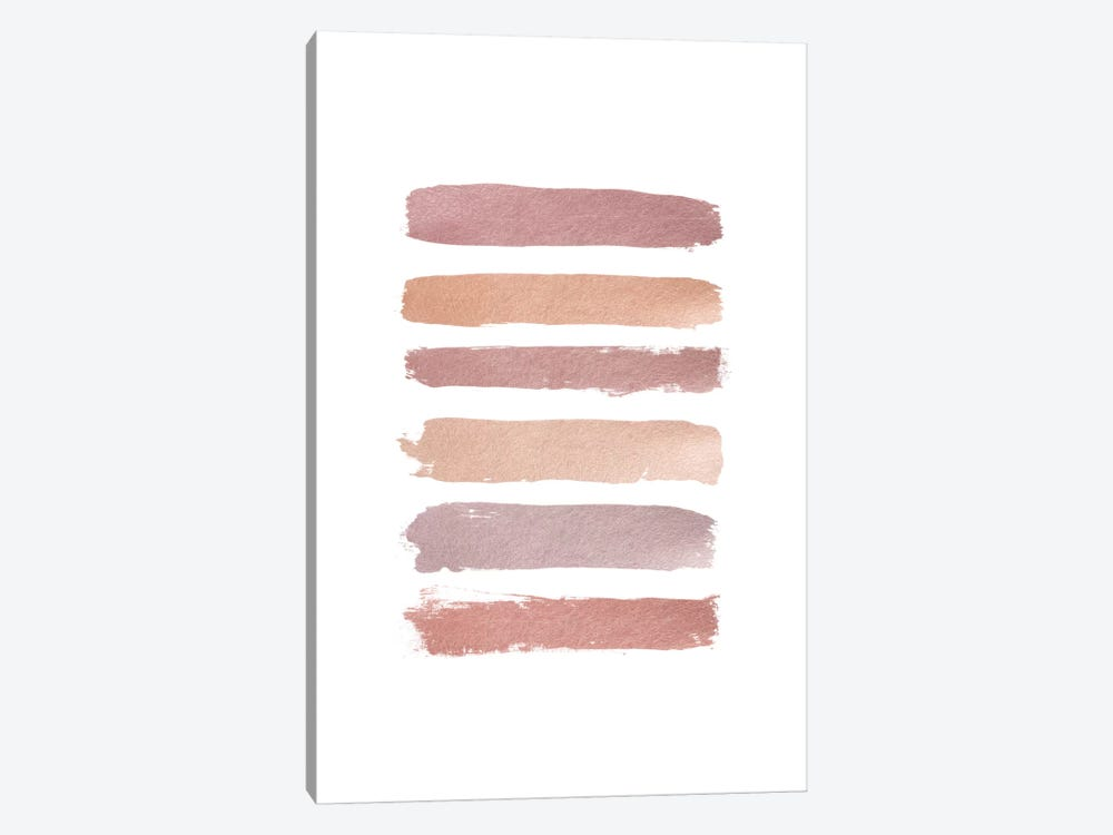 Dusty Rose Stripes by Orara Studio 1-piece Art Print