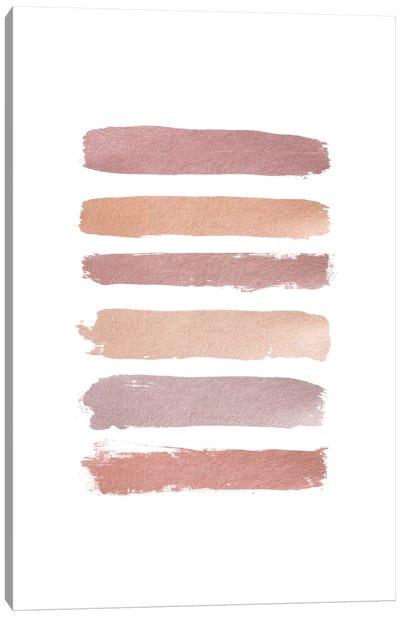 Dusty Rose Stripes Canvas Art Print