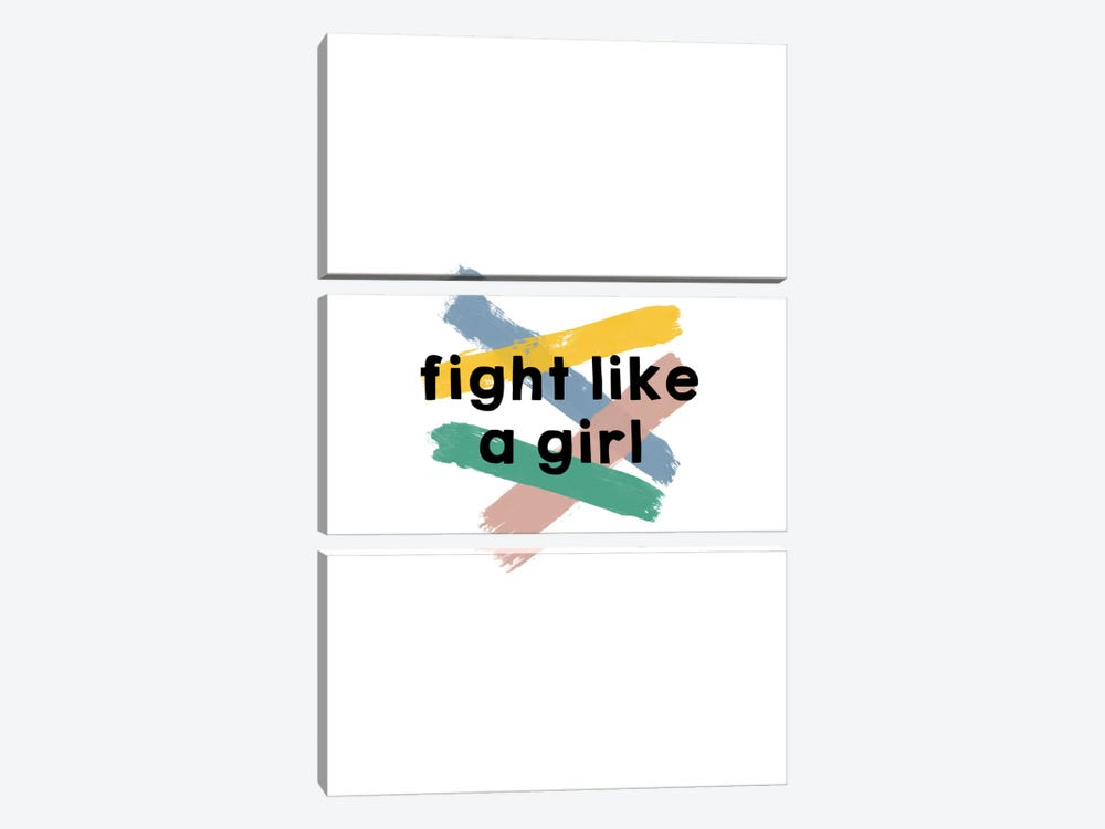 Fight Like A Girl by Orara Studio 3-piece Canvas Art Print