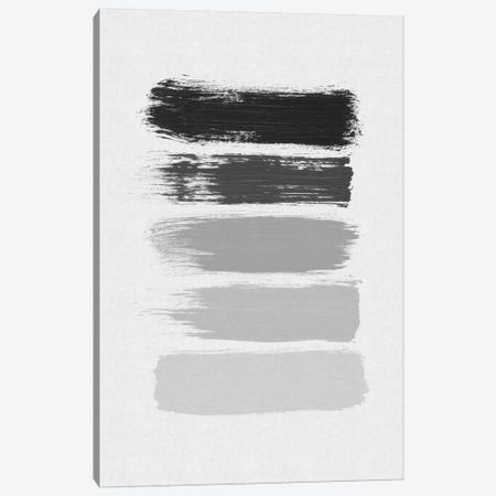 B&W Stripes Canvas Print #ORA6} by Orara Studio Canvas Art Print